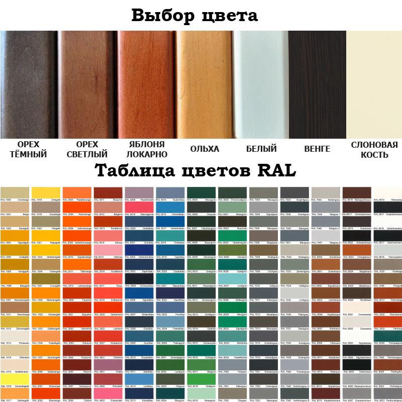 Варианты цвета кровати